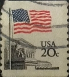 Stamps United States -  Intercambio 0,20 usd 20 cents. 1981
