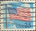 Stamps United States -  Intercambio 0,20 usd 25 cents. 1988