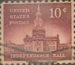 Sellos de America - Estados Unidos -  Intercambio 0,20 usd 10 cents. 1956