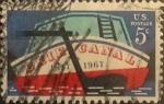 Sellos de America - Estados Unidos -  Intercambio cxrf2 0,20 usd 5 cents. 1967