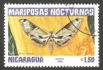 Sellos de America - Nicaragua -  1243 - Mariposa nocturna pholus licaon