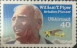 Stamps United States -  Intercambio 0,20 usd 40 cents. 1991