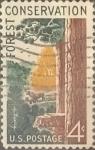 Sellos de America - Estados Unidos -  Intercambio 0,20 usd 4 cents. 1958