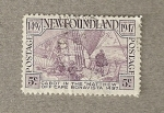 Stamps America - New Foundland -  Cabot a la vista del cabo Bonavista
