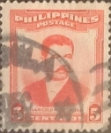Stamps : Asia : Philippines :  Intercambio 0,20 usd 5 cents. 1952