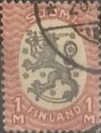 Stamps : Europe : Finland :  Intercambio 0,20 usd 1 m. 1917