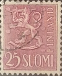 Stamps : Europe : Finland :  Intercambio 0,20 usd 25 m. 1959