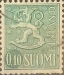 Stamps : Europe : Finland :  Intercambio 0,20 usd 10 p. 1963