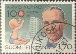 Stamps : Europe : Finland :  Intercambio hbr 0,25 usd 1,70 m. 1987