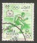 Sellos del Mundo : Africa : Sudán :  130 - Olimpiadas de Roma