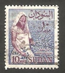 Stamps : Africa : Sudan :   145 - Recogiendo algodón