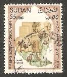 Stamps : Africa : Sudan :  167 - Exposición internacional de New Yokk, mapa