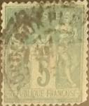 Sellos de Europa - Francia -  Intercambio 0,60 usd 5 cents. 1876
