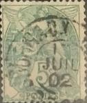Sellos de Europa - Francia -  Intercambio 0,35 usd 5 cents. 1900