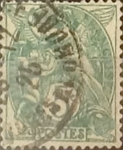 Stamps : Europe : France :  Intercambio 0,35 usd 5 cents. 1900