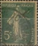 Sellos de Europa - Francia -  Intercambio 0,25 usd 5 cents. 1907