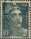 Sellos de Europa - Francia -  Intercambio 0,20 usd 2 francos  1945