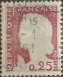 Stamps France -  Intercambio 0,20 usd 25 cents. 1960