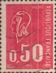 Stamps : Europe : France :  Intercambio 0,20 usd 50 cents. 1971