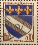 Stamps France -  Intercambio 0,20 usd 10 cents. 1963