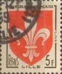 Sellos de Europa - Francia -  Intercambio 0,20 usd 5 francos 1958