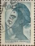 Stamps France -  Intercambio 0,20 usd 5 franco 1982
