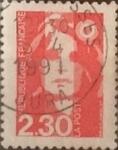 Stamps France -  Intercambio 0,20 usd 2,30 francos 1990