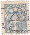 Stamps Latvia -  escudo