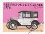 Sellos de Africa - Guinea -  coche de epoca