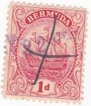 Sellos de America - Bermudas -  velero