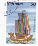 Sellos de Asia - Vietnam -  barco vietnamita