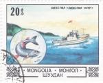Sellos de Asia - Mongolia -  pesquero