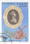Stamps United Arab Emirates -  retrato de Mozart-FUJEIRA