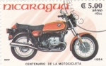 Sellos de America - Nicaragua -  motocicleta BMW