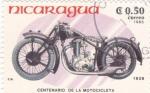 Stamps Nicaragua -  motocicleta FN