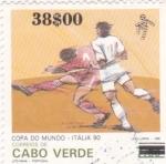 Stamps Cape Verde -  mundial de futbol Italia-90
