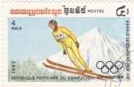 Stamps Cambodia -  juegos olímpicos invierno