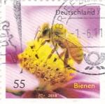 Stamps Germany -  abeja y flor
