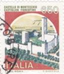 Stamps Italy -  castillo di Montecchio