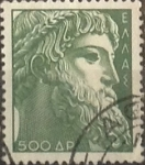 Stamps : Europe : Greece :  Intercambio 0,20 usd  500 d. 1954
