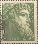 Stamps Greece -  Intercambio 0,20 usd  500 d. 1954