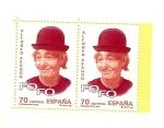 Stamps Spain -  Personajes Populares  Alfonso  Aragón - payasos -  Fofó