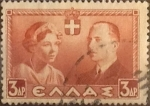 Stamps Greece -  Intercambio crxf 0,20 usd  3 d. 1938