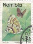 Stamps Africa - Namibia -  mariposas