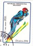 Sellos de Africa - Madagascar -  salto de esquí