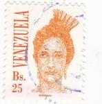 Stamps Venezuela -  ilustración mujer joven