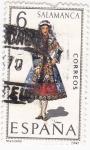 Stamps Spain -  SALAMANCA-trajes regionales (20)