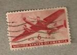 Sellos de America - Estados Unidos -  Avión