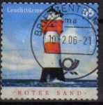 Stamps Germany -  ALEMANIA 2004 Scott 2291 Sello Faro Roter Sand 55 Usado Michel 2410 Allemagne Duitsland Germania Ger