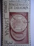 Stamps Spain -  Ed:2319- Bimilenario de Zaragoza- Monedas de Cesar Augusta.